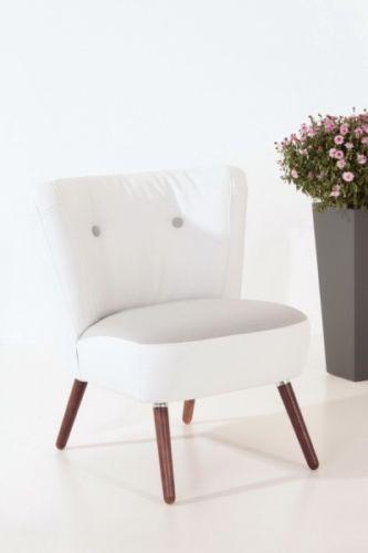 Sessel retrosessel wei und grau retrostil leinenoptik for Sessel stuhl grau