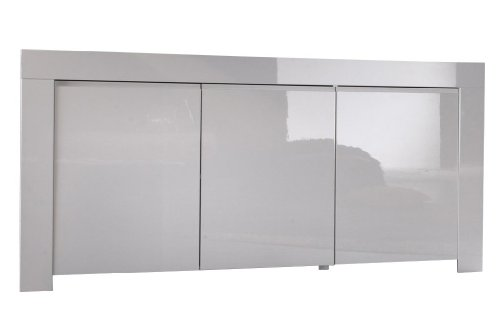 Sideboard Amalfi 3 Türen, 160 x 84 x 50 cm, weiß hochglanz