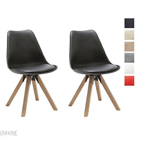 Stuhl Esszimmerstühle Küchenstühle !2 er Set! FARBAUSWAHL Küchenstuhl mit Holzbeine Sitzkissen TYP9-518M Esszimmerstuhl RETRO Küchenstuhl