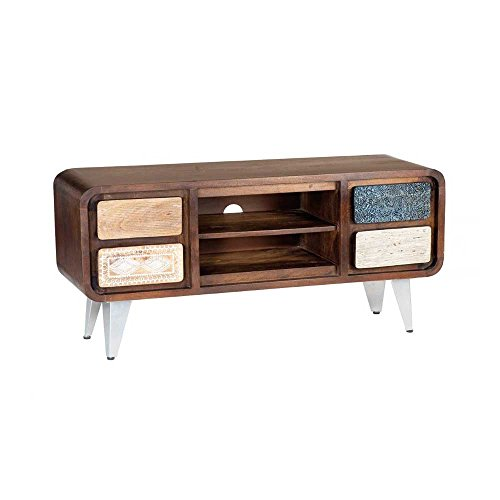 tv lowboard im retro design braun bunt pharao24 retro stuhl. Black Bedroom Furniture Sets. Home Design Ideas