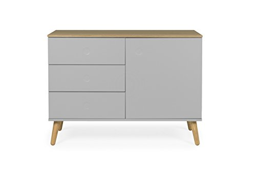 tenzo 1674 612 dot designer sideboard holz grau eiche 43 x 109 x 79 cm retro stuhl. Black Bedroom Furniture Sets. Home Design Ideas