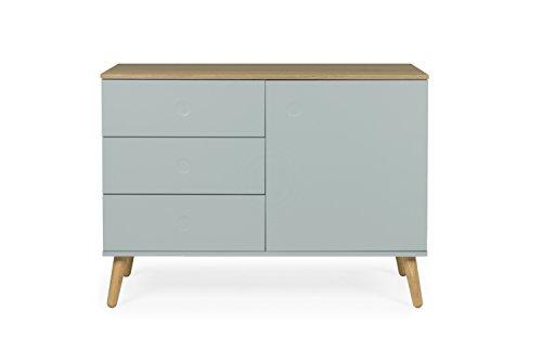 Tenzo 1674-676 Dot Designer Sideboard Holz, pastellgrün / eiche, 43 x 109 x 79 cm