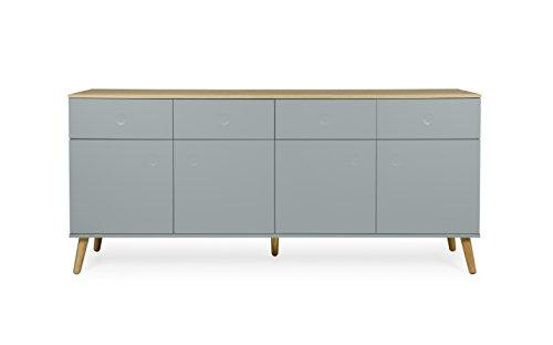 Tenzo 1678-676 Dot Designer Sideboard Holz, pastellgrün / eiche, 43 x 192 x 86 cm