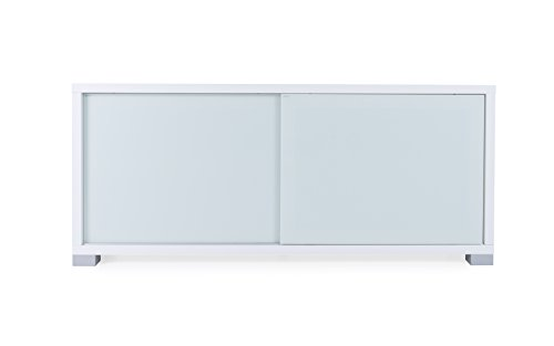 Tenzo 3932-071 Ice Designer Sideboard, Holz, hochglanz weiß, 46 x 185 x 80 cm