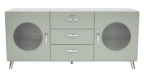 Tenzo 4933-076 Cobra Designer Sideboard Holz, pastellgrün, 43 x 163 x 73 cm