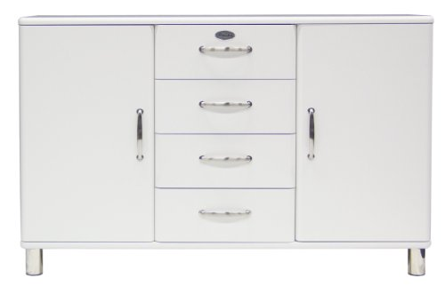 Tenzo 5236-005 Malibu - Designer Sideboard 92 x 146 x 41 cm, MDF lackiert, weiß