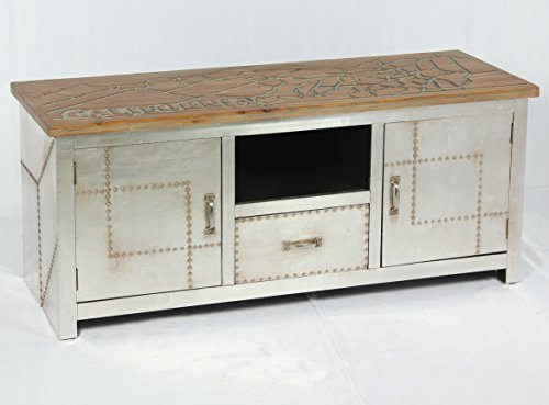 Vintage Lowboard Industrie Design Sideboard Retro Tv Board Alu Kommode 504