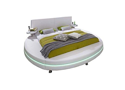 XXS® Polsterbett Rundbett Gallo 200 x 200 cm Bett in weiß
