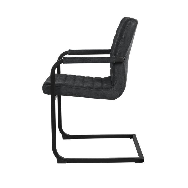 6x st hle freischwinger schwarz 86x60cm for Stuhl schwarz esszimmer