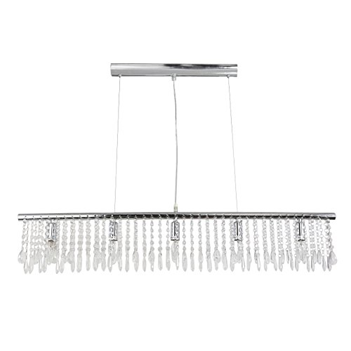 led kristall pendelleuchte kristall deckenleuchte 5 x e14 sockel h he 145 cm x. Black Bedroom Furniture Sets. Home Design Ideas