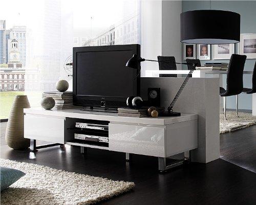 123 48900w1 tv lowboard hochglanz weiss lackiert retro stuhl. Black Bedroom Furniture Sets. Home Design Ideas