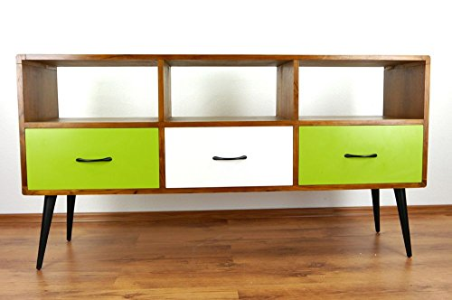 java retro sideboard aus teakholz vintage tv bank aus. Black Bedroom Furniture Sets. Home Design Ideas