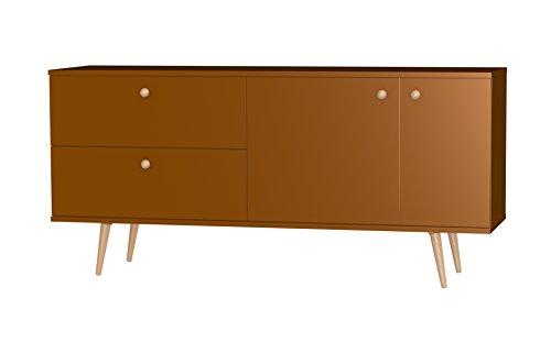 Tenzo 1114-089 Haze Designer Sideboard, 75 x 160 x 43 cm, kupfer / eiche