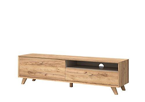 lowboard tv lowboard fermsehtisch kommode sideboard schrank eiche navarra steingrau. Black Bedroom Furniture Sets. Home Design Ideas