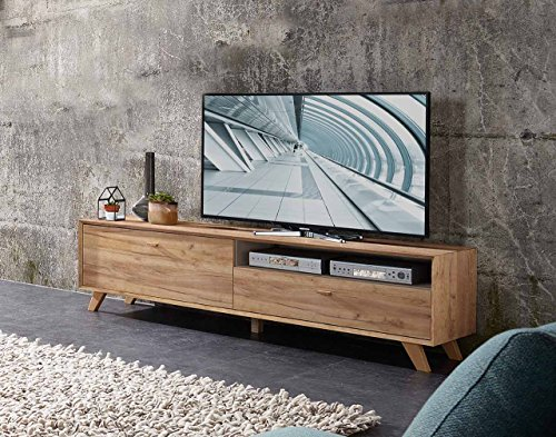 lowboard tv lowboard fermsehtisch kommode sideboard schrank eiche navarra steingrau. Black Bedroom Furniture Sets. Home Design Ideas