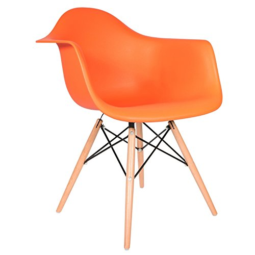 Chaise priv e stuhl daw leuchtendes orange naturfarben for Design stuhl orange