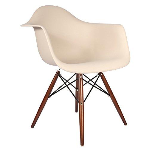 Daw stuhl beige walnuss retro stuhl for Daw stuhl gepolstert