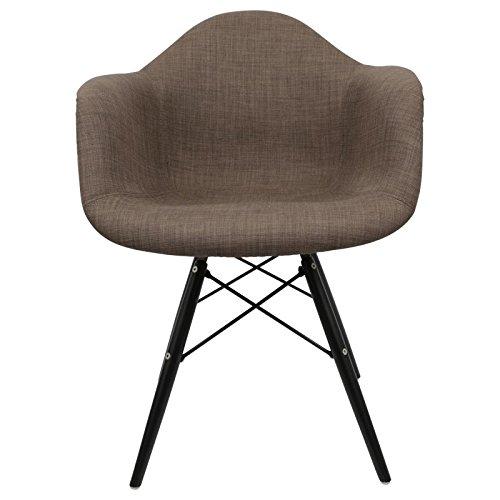 Daw arm stuhl schokolade walnuss retro stuhl for Design stuhl daw