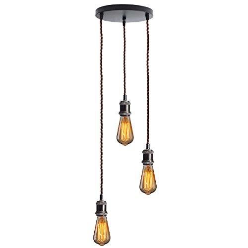KINGSO E27 Lampenfassung Mit Drei Fassungen Edison