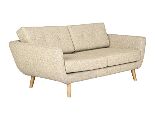 massivum kingsley sofa 2 sitzer stoff beige 96 x 170 x 78 cm retro stuhl. Black Bedroom Furniture Sets. Home Design Ideas