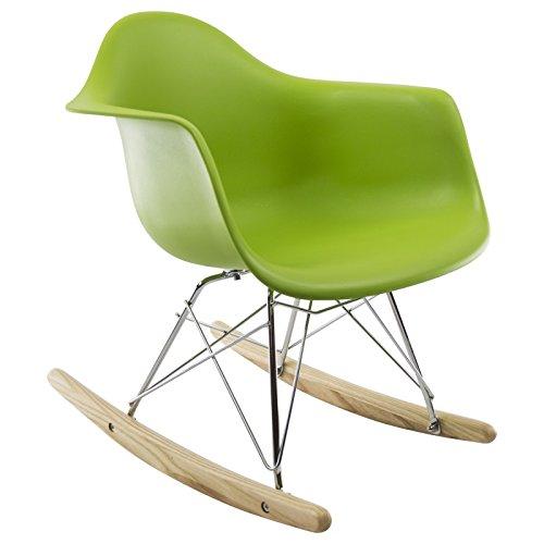 Rar kinder schaukelstuhl gr n retro stuhl for Schaukelstuhl kinder