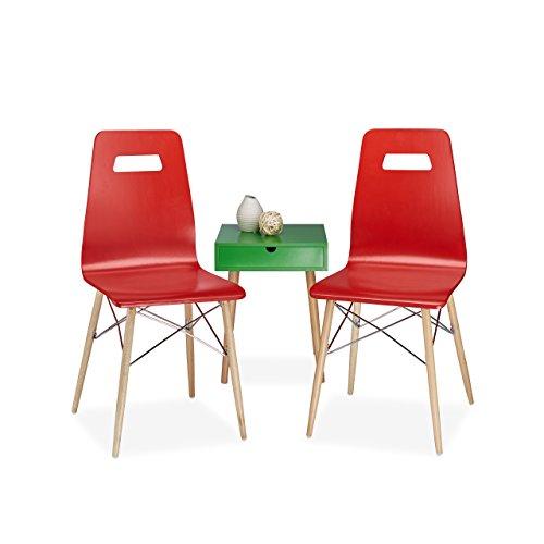 relaxdays design stuhl 2 er set arvid holz esszimmer stuhl modern hxbxt 92 x 43 x 40 cm retro. Black Bedroom Furniture Sets. Home Design Ideas