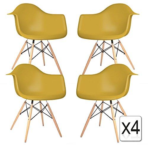 verkauf 4 x design stuhl eiffel stil natural wood beine