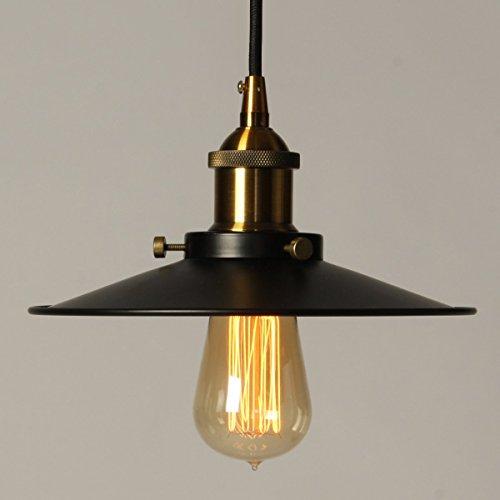 vintage pendelleuchte elfeland retro industrielle deckenleuchte loft lampe schwarz eisen. Black Bedroom Furniture Sets. Home Design Ideas