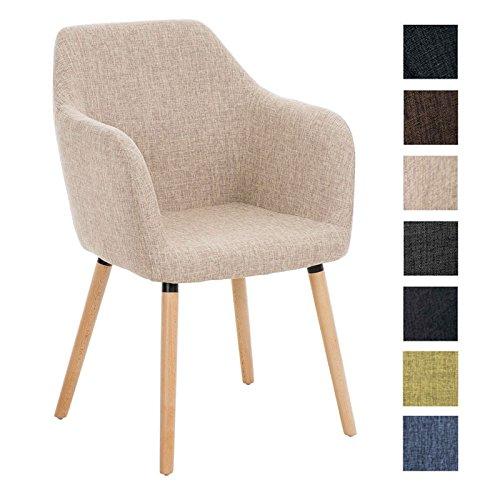clp besucher design stuhl picard holzgestell stoffbezug