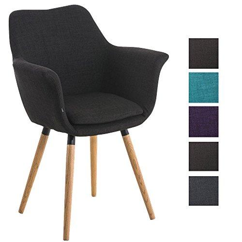Clp besucher stuhl vance holzgestell stoff bezug for Stuhl mit armlehne schwarz