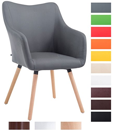 clp design besucher stuhl mccoy v2 mit armlehne max belastbarkeit 160 kg holz gestell kunstleder. Black Bedroom Furniture Sets. Home Design Ideas