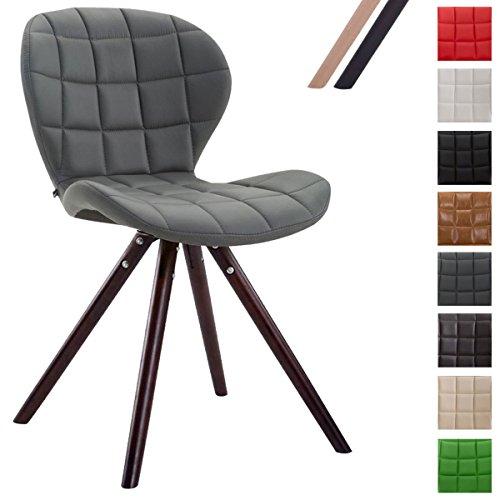 clp design retro stuhl alyssa bein form rund kunstleder. Black Bedroom Furniture Sets. Home Design Ideas