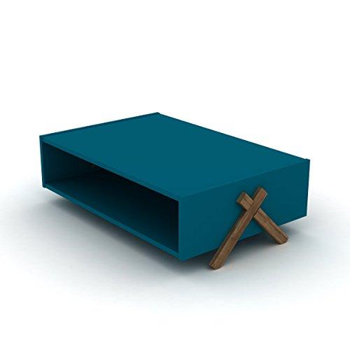 eckiger couchtisch holz optik retro design 93 50 x 60 50 x 28 50 cm braun blau retro stuhl. Black Bedroom Furniture Sets. Home Design Ideas