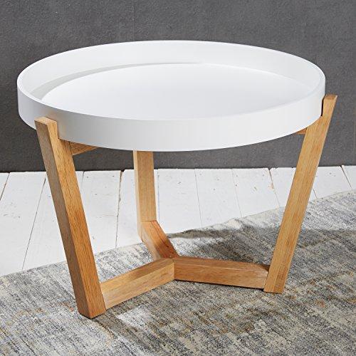 eleganter couchtisch beistelltisch in wei 40 x 55 cm. Black Bedroom Furniture Sets. Home Design Ideas