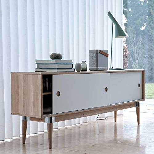 esszimmer sideboard im retro look mit schiebet ren pharao24 retro stuhl. Black Bedroom Furniture Sets. Home Design Ideas
