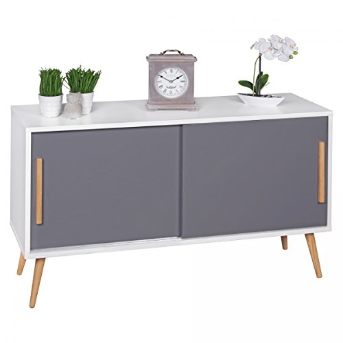 finebuy sideboard mit schiebetren skandinavisches design. Black Bedroom Furniture Sets. Home Design Ideas