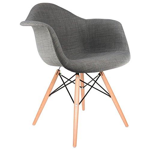 gepolsterter stuhl daw betongrau natur 0 retro stuhl. Black Bedroom Furniture Sets. Home Design Ideas