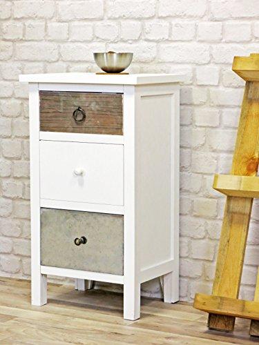 my flair kommode retro mit 3 schubladen im landhausstil retro stuhl. Black Bedroom Furniture Sets. Home Design Ideas