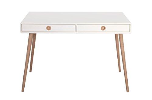 Steens Furniture Schreibtisch Soft Line, 76 x 114 x 57 cm, MDF weiß lackiert