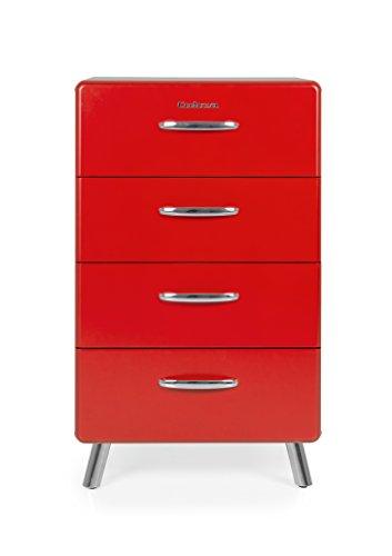 Tenzo 4914-028 Cobra Designer Kommode, 92 x 56 x 43 cm, MDF lackiert, rot