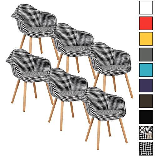 woltu 6er set esszimmersthle kchenstuhl design stuhl. Black Bedroom Furniture Sets. Home Design Ideas