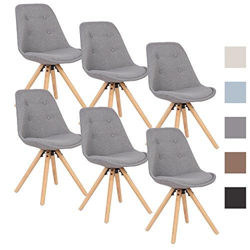 woltu bh54gr 6 6 x esszimmerst hle 6er set esszimmerstuhl. Black Bedroom Furniture Sets. Home Design Ideas