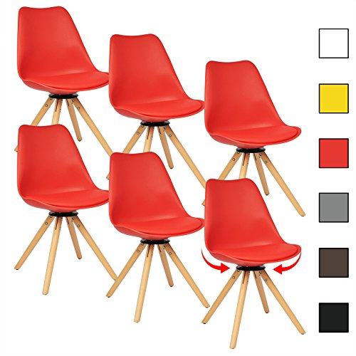 woltu bh57rt 6 6 x esszimmerst hle 6er set esszimmerst hle. Black Bedroom Furniture Sets. Home Design Ideas