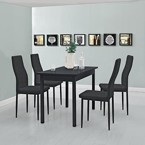 moderner esstisch f r 4 st hle schwarz 120x60cm. Black Bedroom Furniture Sets. Home Design Ideas