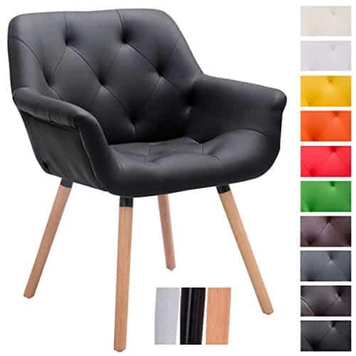 Clp besucher stuhl cassidy kunstleder bezug belastbar bis for Stuhl mit armlehne kunstleder