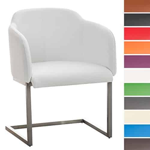 clp edelstahl freischwinger stuhl magnus mit kunstlederbezug loungesessel mit armlehne. Black Bedroom Furniture Sets. Home Design Ideas