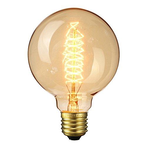 Elfeland ® Edison Glühbirne / Industrial Vintage Retro Stil / E27 40W Spiral Filament Dekorative Glühbirne / für Hängelampe Wandleuchte Pendelleuchte / Durchmesser 95mm Dimmbar - 1 Stück