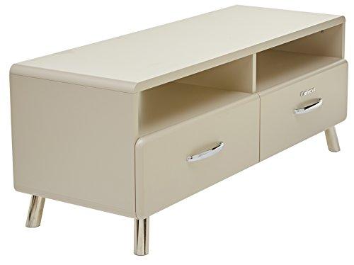 Tenzo 4942-083 Cobra Designer TV-Bank, 46 x 118 x 43 cm, MDF lackiert, warm grey