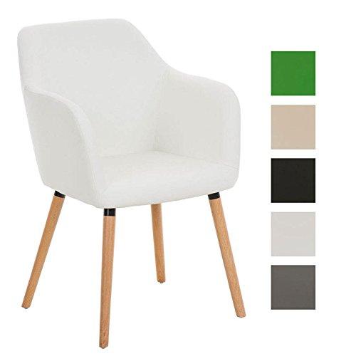 clp besucher design stuhl picard holzgestell sitzfl che gut gepolstert modern wei retro stuhl. Black Bedroom Furniture Sets. Home Design Ideas