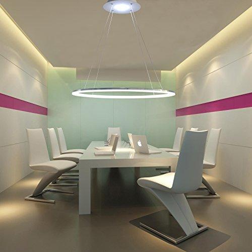 KJLARS Modern Pendelleuchte Hängelampe LED-60cm Ring Hängeleuchte Pendellampe Höhenverstellbar Pendellänge maximum 150 cm Deckenleuchte für Wohnzimmer Schlafzimmer Esszimmer